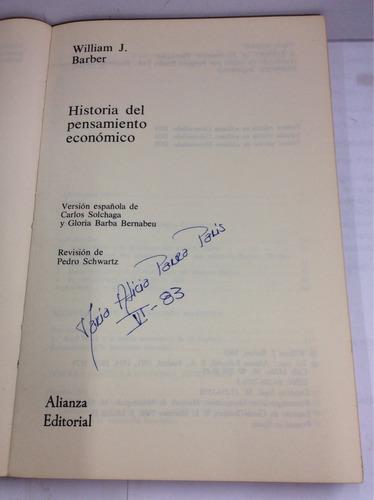historia del pensamiento económico, william j. barber