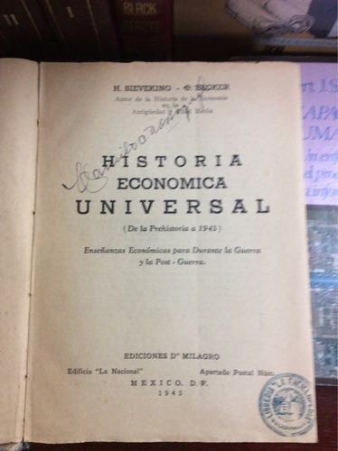 historia económica universal, (de la prehistoria a 1943)