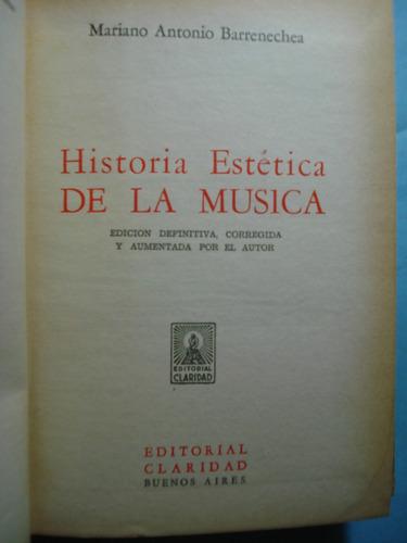 historia estética de la música. edición definitiva corregida