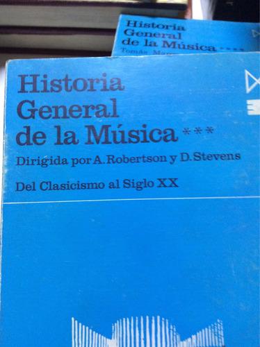 historia general de la música  d.stevens tomos 2-3-4