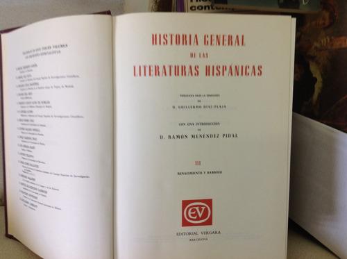 historia general de las literaturas hispánicas. ed. vergara.