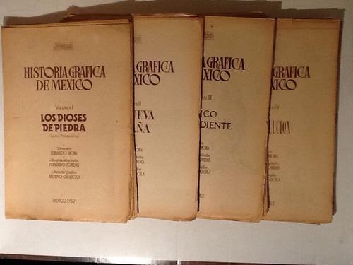 historia grafica de mexico 4 tomos casasola 1952/1953 noveda