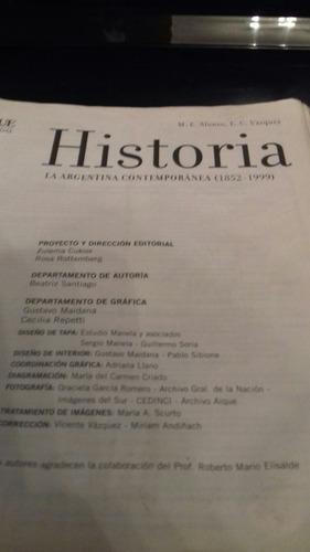 historia la argentina contemporanea 1852-1999