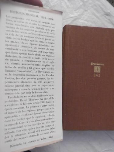historia mundial 1914-1968 david thomson tapa dura breviario
