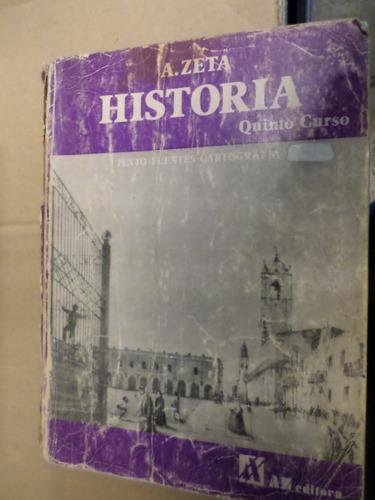 historia quinto curso a-zeta texto,fuentes,cartografía