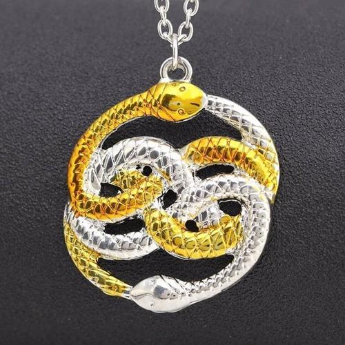 historia sin fin dije collar auryn serpiente doble ouroboros