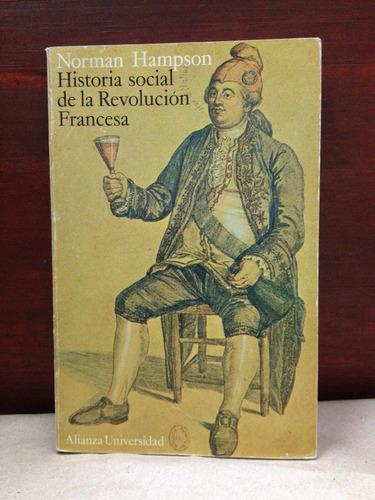 historia social de la revolución francesa. norman hampson.