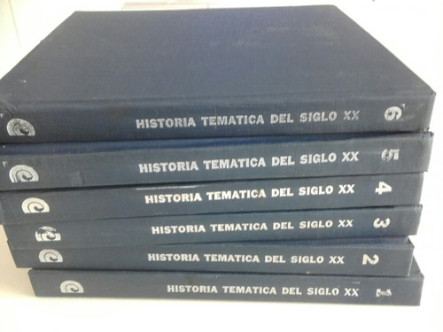 historia tematica del siglo xx. 6 tomos.