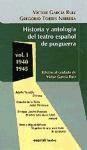 historia y antología del teatro español de posguerra. vol. 1