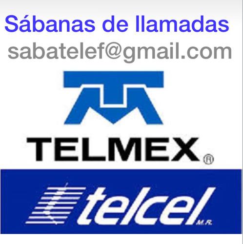 historial telefono detalles llamadas telcel telmex hackers