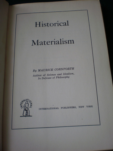 historical materialism - maurice cornforth 1954