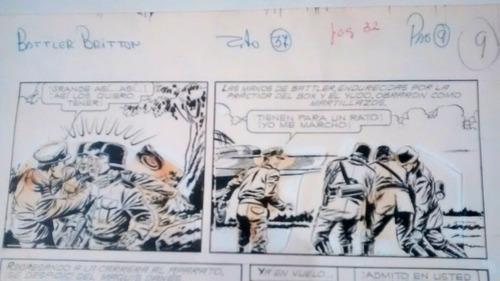 historieta battler britton original impresion patoruzito 37