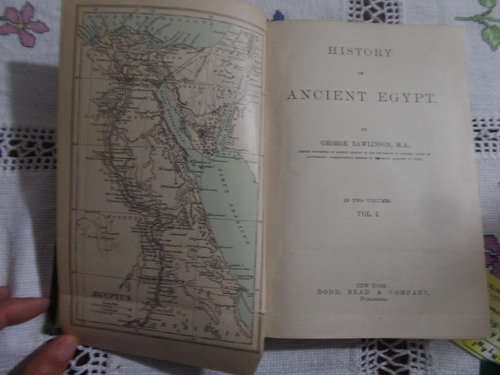 history of ancient egypt - george rawlinson 1a edição 2 vol