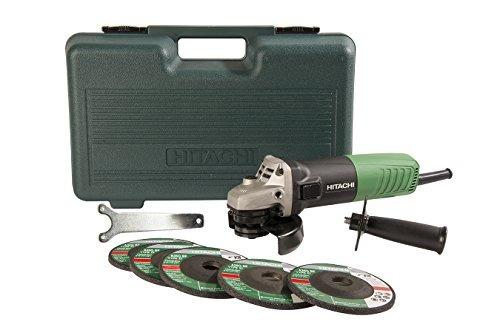 hitachi g12sr4 6.2-amp 4-1-2-inch angle grinder con 5 ruedas