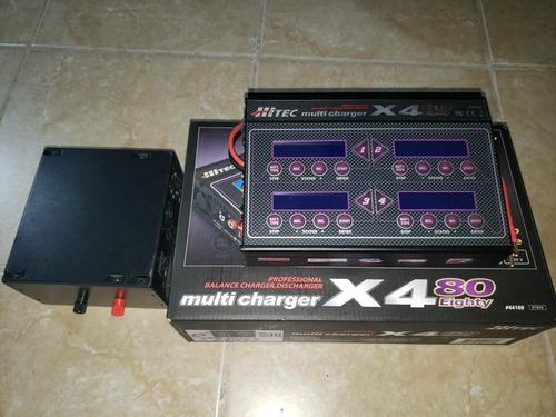 hitec x4 cargador de pilas