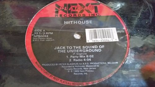 hithouse jack to the sound of the underground 4 mixes vinilo