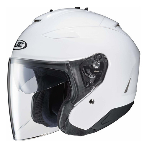 hjc is-33 ii solid casco, l, blanco