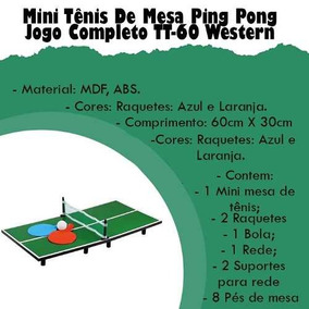 ac0f53d9a Mesa Ping Pong Hobby no Mercado Livre Brasil