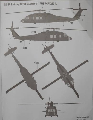 hobbyboss 1/72 87216 uh-60a blackhawk helicopter