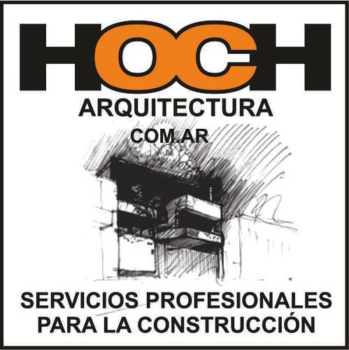 hoch arquitectura - proyectos dibujante planos obras cadista