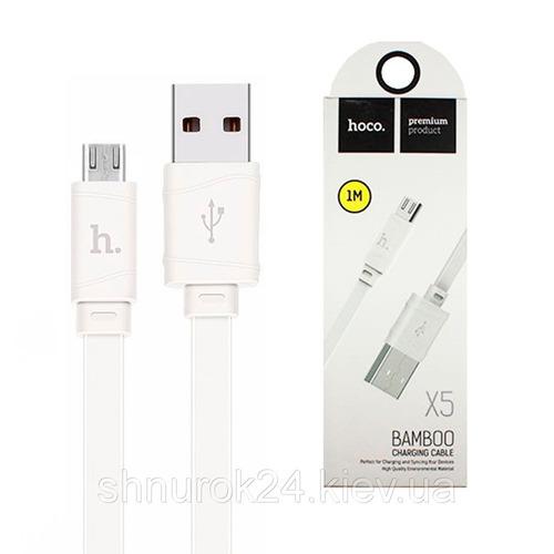 hoco cable de carga x5 bamboo micro usb a usb
