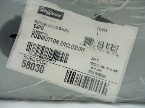 hoffman e3pb pushbutton enclosure steel gray 8x3.25x2.75 in