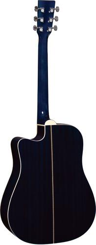 hofma ye220 violão folk cutway aço blue burst