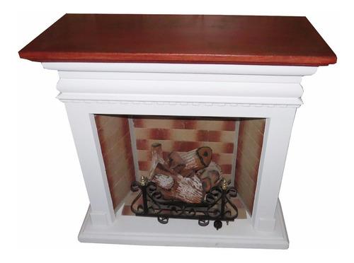 hogar a gas simil madera con 5000 cal + kit de instalacion
