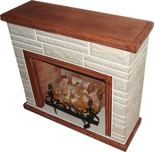 hogar a gas simil piedra simil madera leños de 5000 calorias