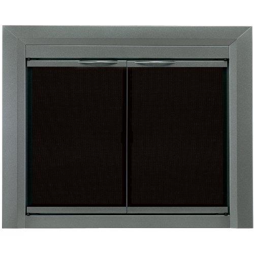 Hogar agradable cr crat n chimenea puerta de vidrio bronce 18 en mercado libre - Puertas de vidrio para chimeneas ...