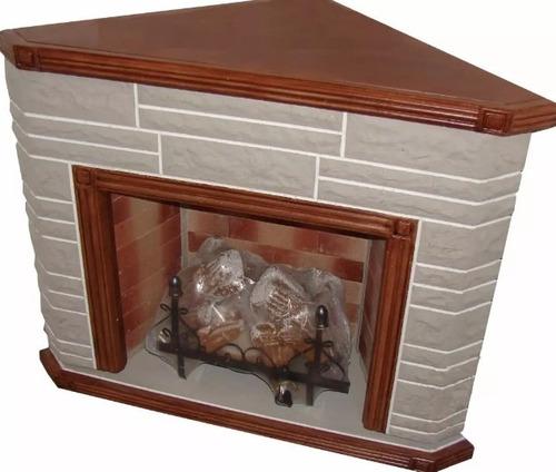 hogar esquinero simil madera con leños de 8000 calorias