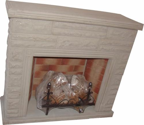 hogar esquinero s/madera s/piedra leños 8000 cal+kit fabrica