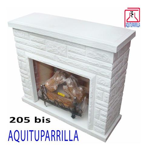 hogar frontal simil piedra leños 5000 kcal+kit inst