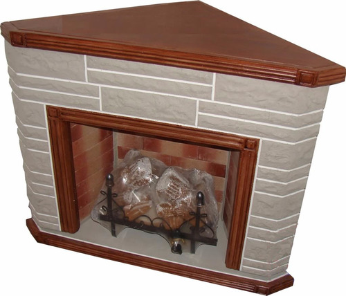 hogar frontal simil piedra simil madera leños 8000 kcal+kit