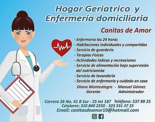 hogar geriátrico y enfermería domiciliaria