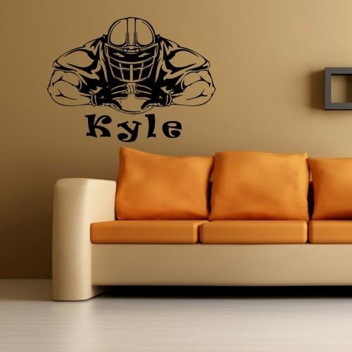 hogar pegatina pared home decor football player removable