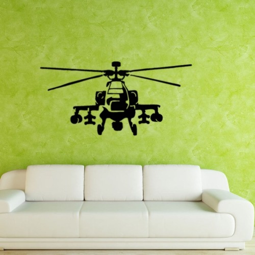 hogar pegatina pared home decor helicopter removable wall