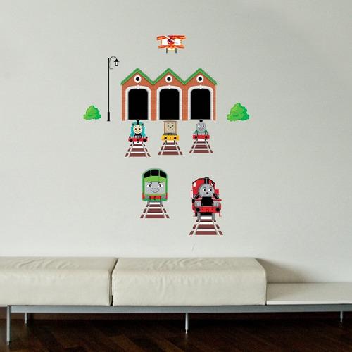 hogar pegatina pared home decor train removable wall