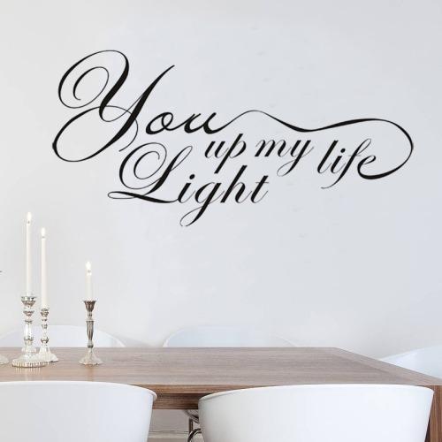 hogar pegatina pared wall decor phrase removable 40cm