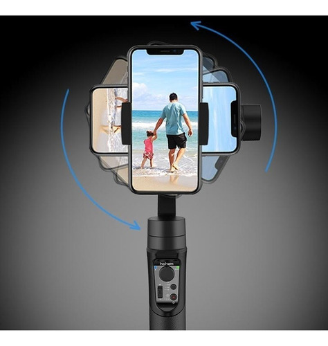 hohem gimbal isteady mobile 3 eixos portátil p/ smartphone