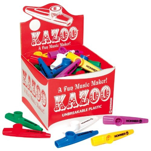 hohner kc 50 kazoos de de color surtido , paquete 50