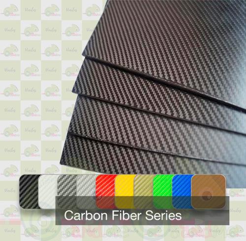 hoja adhesiva vinilo fibra carbono a3 42x30cm texturizado