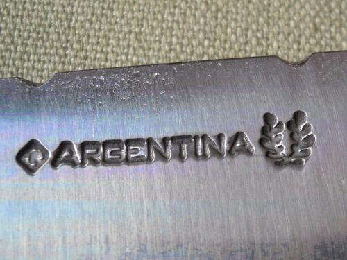 hoja ' argentina ' 25 cms para encabar ac carbono cuchillo