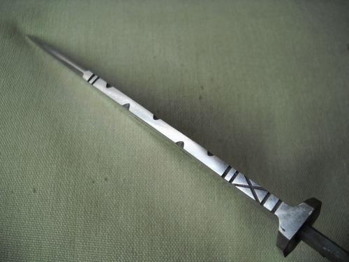 hoja argentina 30 cms ac carbono y vaina - cuchillo - facón