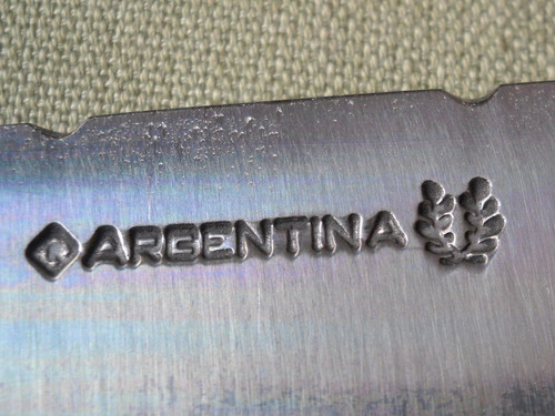hoja ' argentina '  30 cms para encabar ac carbono cuchillo