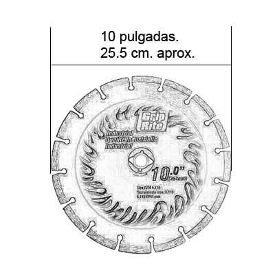 hoja circular diamante 10  grip-rite