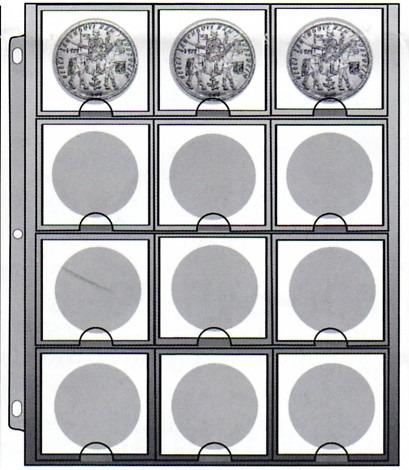 hoja cowens de 12 espacios para monedas corona - 43mm
