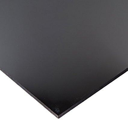 hoja de acrílico fundido negro thickness - 0.118 size - 12