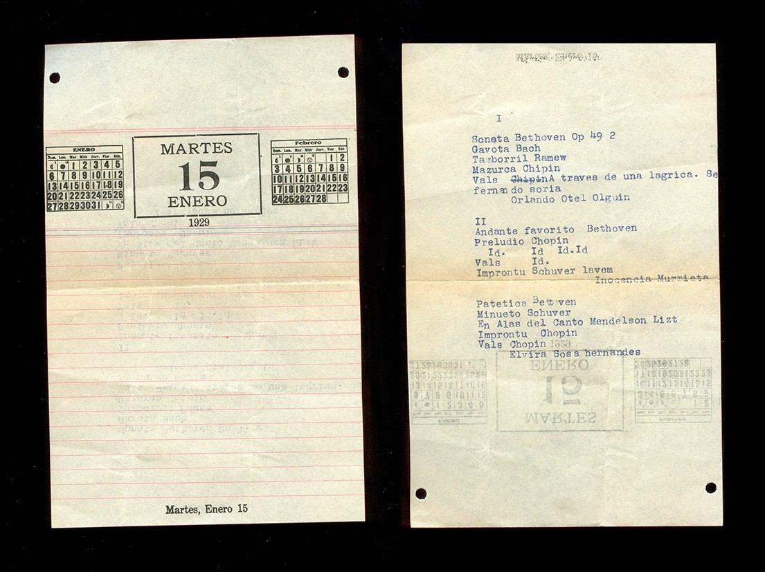 Calendario 1929.Hoja De Calendario 1929