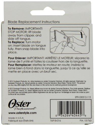 hoja de clipper de repuesto oster professional 76918-016, ta